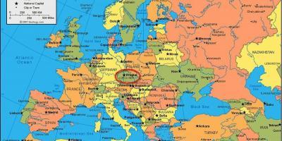 Karta Europa Portugal.Prag Map Kartor Prag Bohmen Tjeckien